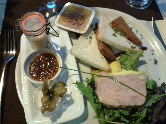 Le Pescadou : Assiette de foie gras