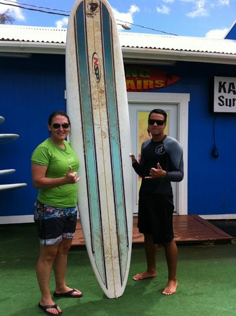 Kama'aina Surf & Sport: my surfing instructor Christian