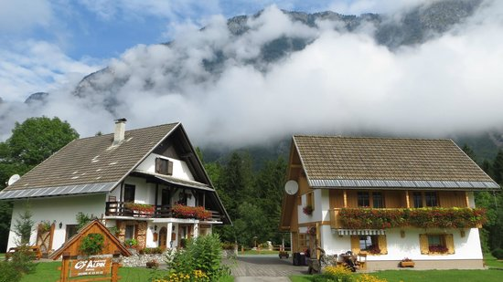 Alpik Apartments at Lake Bohinj: Morning mists breaking over Alpik