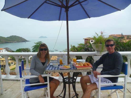 Casagrande Hotel Boutique: Desayunando con vista al mar!