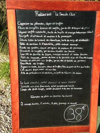 Cavaliere, Francia: Menü