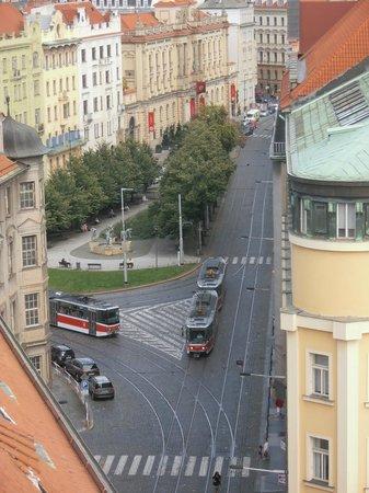 Henry's Bell Tower: trams below