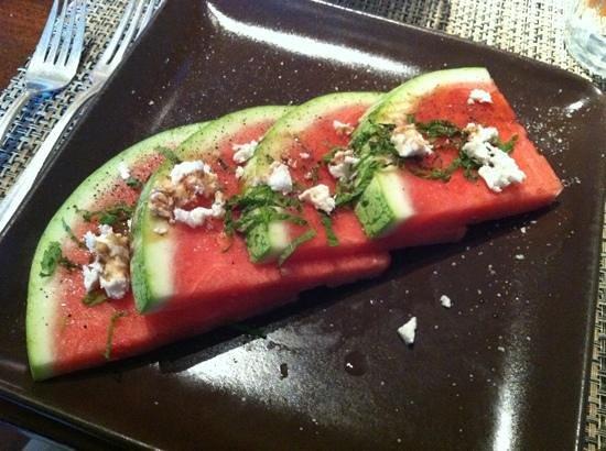 Osteria Stellina: water melon feta fresh mint salad