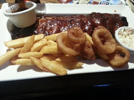 The Samuel Peto - J D Wetherspoon: BBQ ribs