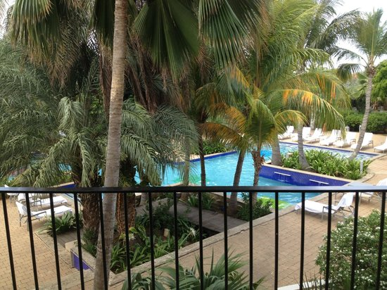 Floris Suite Hotel - Spa & Beach Club: Pool view from our balcony.