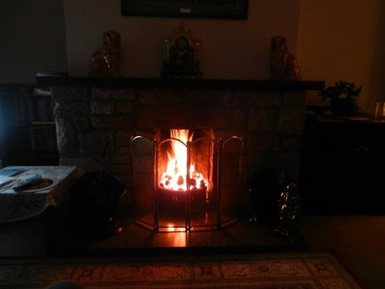 Aslaich Bed & Breakfast: Relaxing by the fire place :)