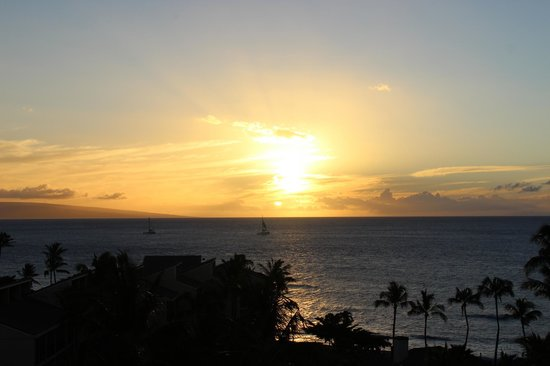 Aston Kaanapali Shores: View of sunset from our room