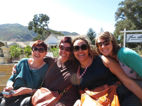 Wine Trolley Tours: On a complementary tractor ride
