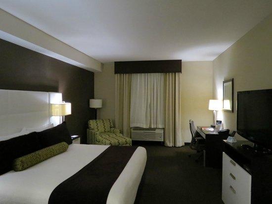 BEST WESTERN PREMIER Miami International Airport Hotel & Suites: Quarto muito amplo e confortável.