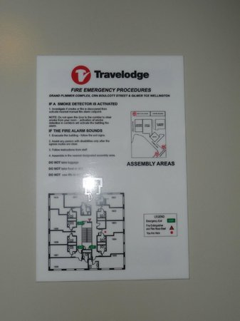 Travelodge Hotel Wellington : Room layout on 18th floor