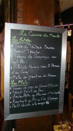 La Taverne : Menu