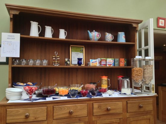 Willow Tree House : Breakfast display