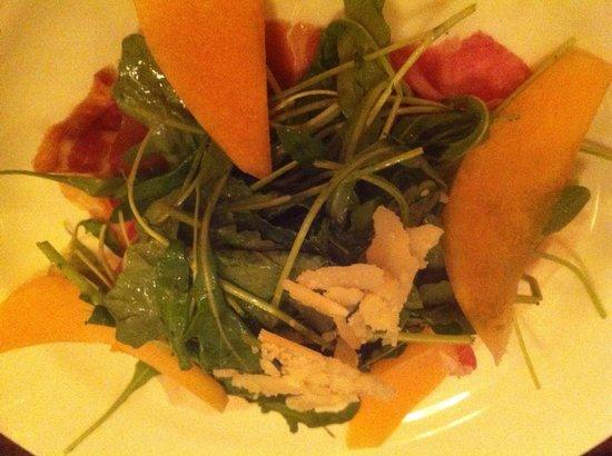 Taverna Banfi : Arugula salad with Prosciutto de Parma, melon, & parmesan