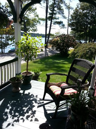 The Lake House at Ferry Point: quiet spot on the porch