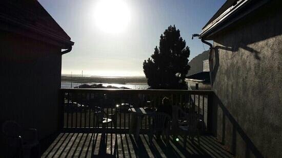 Sea Air Inn Morro Bay: Sonnenuntergang von der Hotelterasse