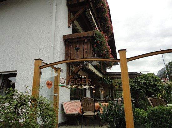 Hotel Steiger : Entrada do restaurante do hotel
