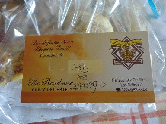 The Residence: bandeja de desayuno