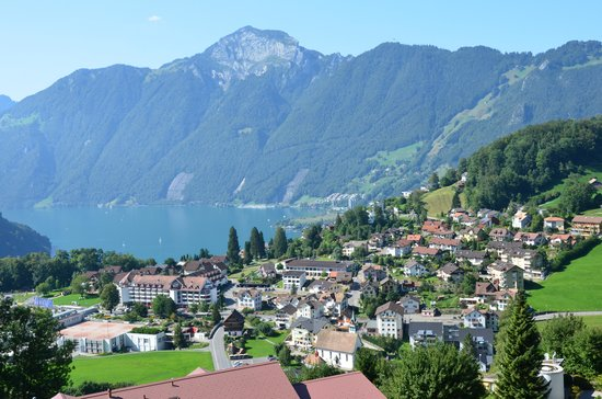 Swiss Holiday Park: Looking down on Morschach