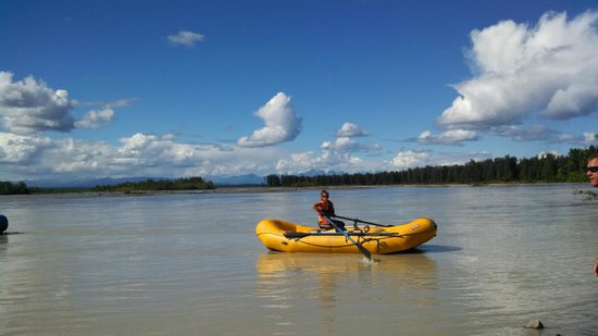 Talkeetna River Guides - Day Trips: Mt McKinley Starting to Come Out