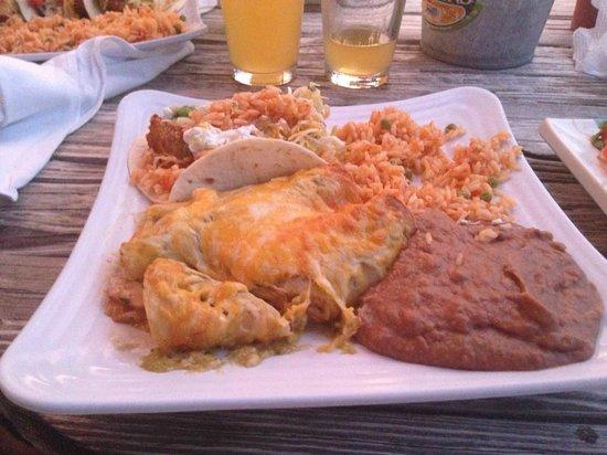 The Wharf Bar & Grill: Shrimp and Scallop Enchiladas!