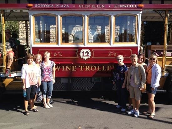 Sonoma Valley Wine Trolley: celebrating 80th & 50th birthdays with family.