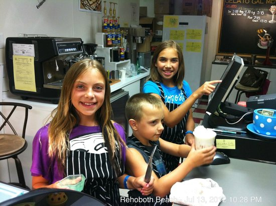 Gelato Gal: No - our regular staff isn't this young!