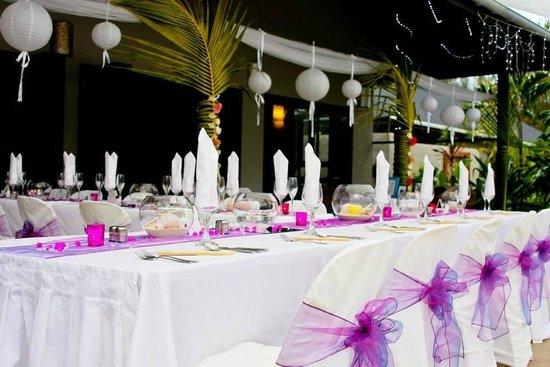 Muri Beach Resort : Reception set up