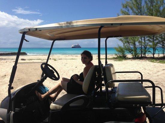 Resorts World Bimini: Private beach we found!