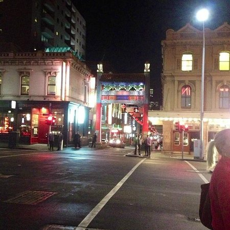 The Crossley Hotel: On the corner of Little Bourke, steps from the hotel.