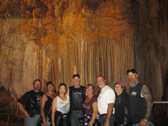 "Lake Shasta Caverns: The ""gang"" inside the caverns"