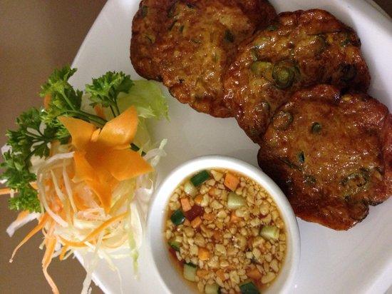 Thai Elephant: Fish Cakes . Full of flavor