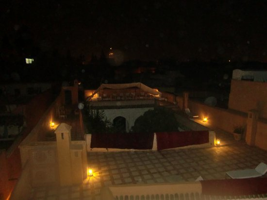 Hotel & Spa Riad Dar Sara : 見えずらいですが屋上
