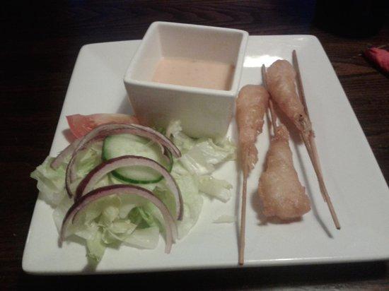 The Heathcote Inn: king prawns in the lightest batter I've ever had!