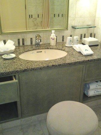 Okura Akademia Park Hotel: 機能的な洗面所