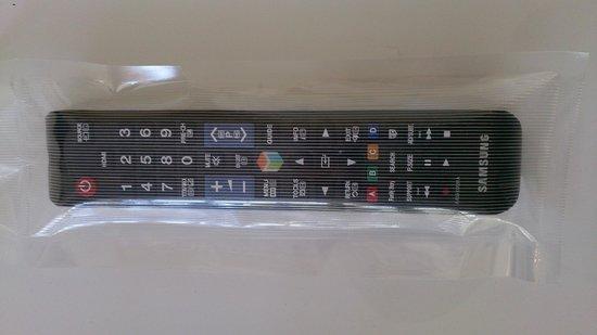 ADGE Apartment Hotel: Sterilised and sealed TV controls