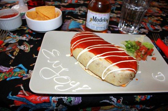 Azteca: Our Lamb Burrito