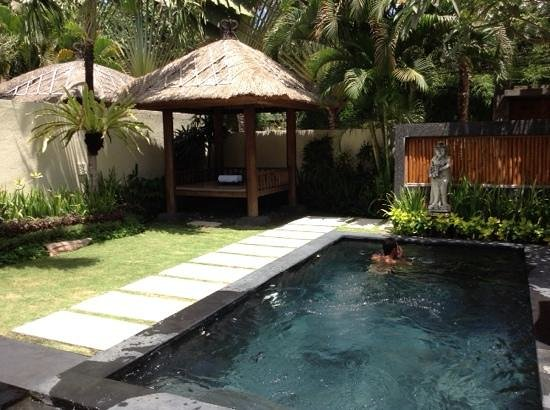 Balibaliku Beach Front Luxury Private Pool Villa: garden and pool