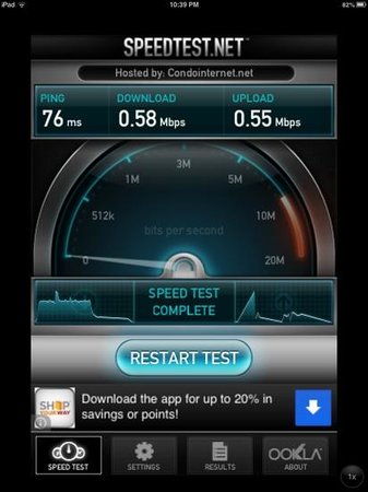 Comfort Inn Lathrop - Stockton Airport: wifi speed at 10:45pm in this hotel. not good!