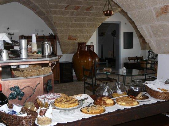 Masseria Ancella: La ricca colazione
