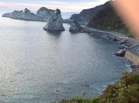 Shirasakiso: The view from our room of Shirasaki Ocean Park
