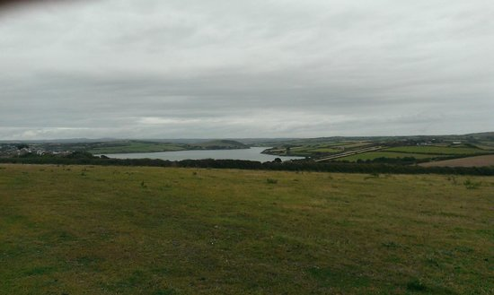 Padstow Touring Park : View from path Touring park to Padstow