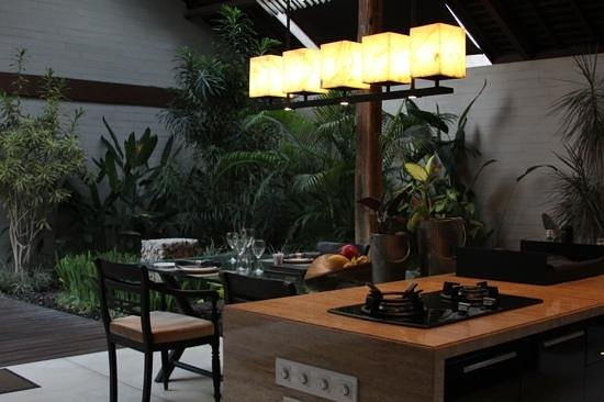 Covered Outdoor Kitchen And Dining Room Picture Of Ametis Villa Bali Canggu Tripadvisor