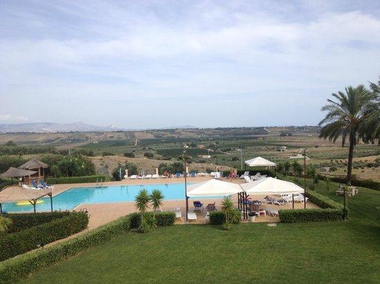 Grand Hotel Selinunte : widok z tarasu hotelu