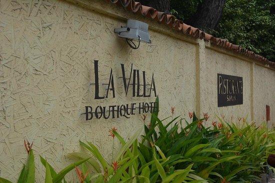 La Villa Boutique Hotel : Entrance