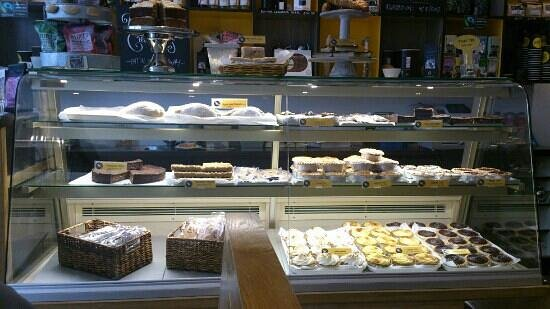 The Yellow Canary Cafe: The cake counter at the yellow canary
