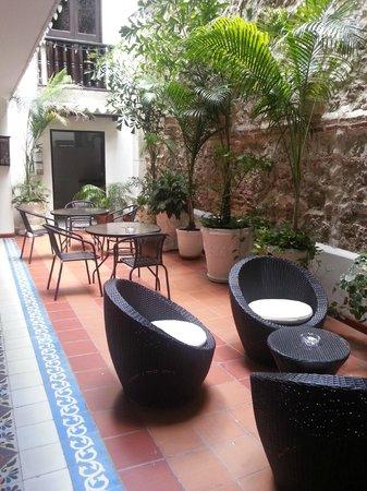 Hotel Villa Colonial : Innenhof