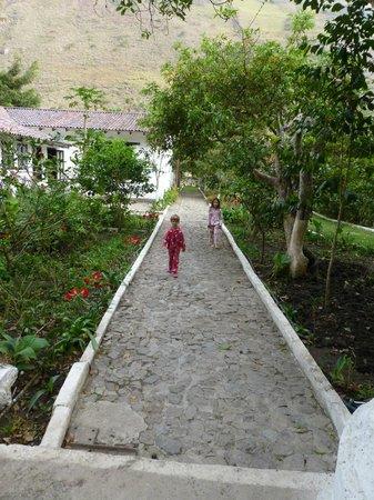 Hosteria La Eterna Primavera: the path to the restaurant and pool