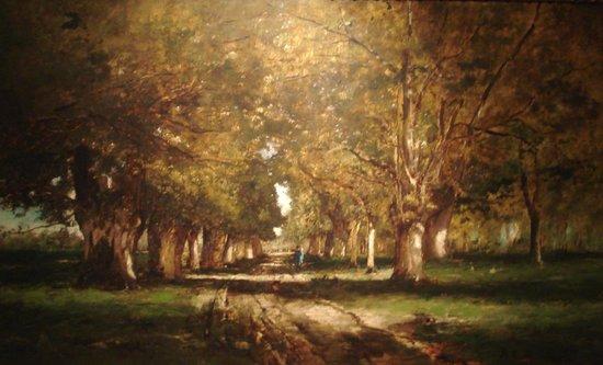 """Ungarische Nationalgalerie (Magyar Nemzeti Galéria): """"Allée"""" de Munkacsy M. 1886"""