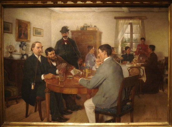 "Ungarische Nationalgalerie (Magyar Nemzeti Galéria): ""Dimanche après-midi"" Bihary S. 1893"