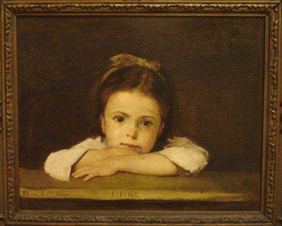 """Ungarische Nationalgalerie (Magyar Nemzeti Galéria): """"Fifine"""" Deak Ebner L. 1875"""